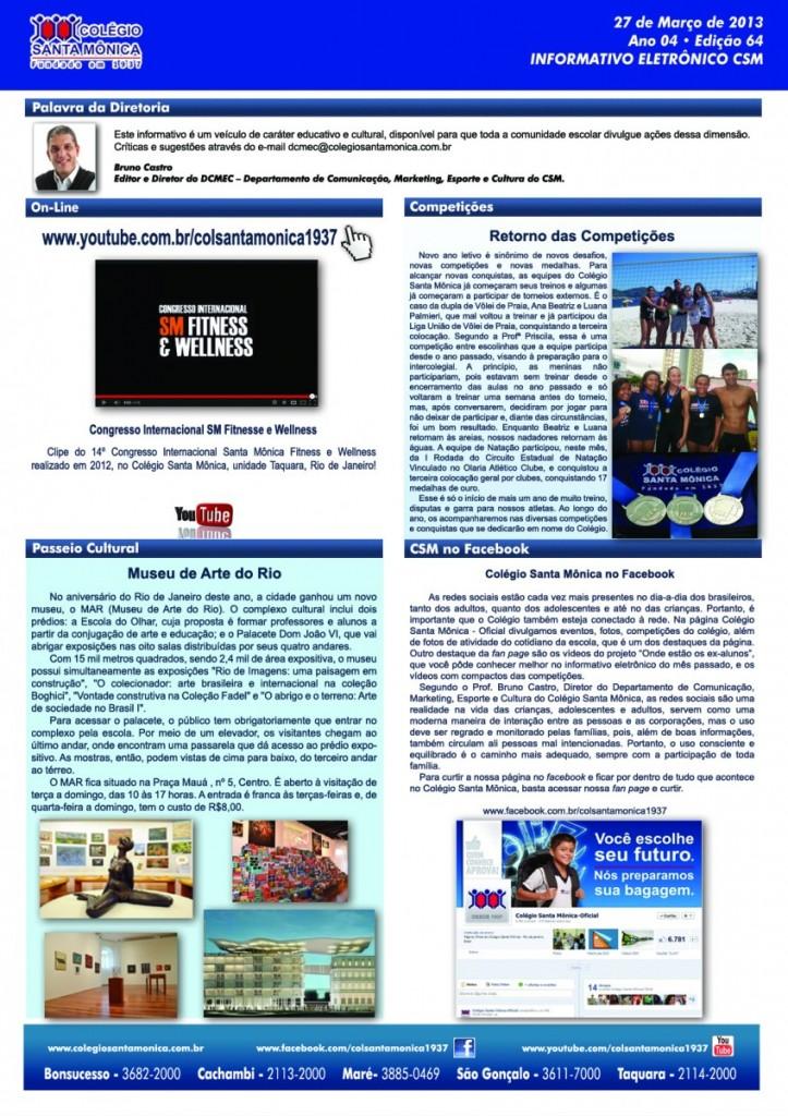 Boletim Eletrônico – Ano 4 | Edição 064 – 27/03/2013