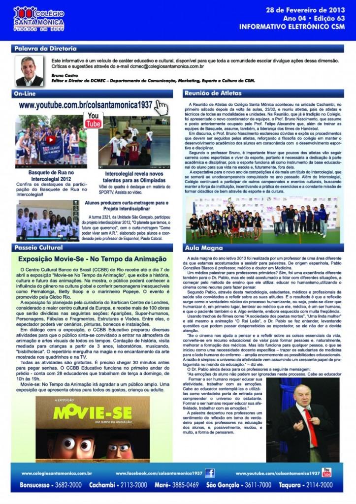 Boletim Eletrônico – Ano 4 | Edição 063 – 28/02/2013
