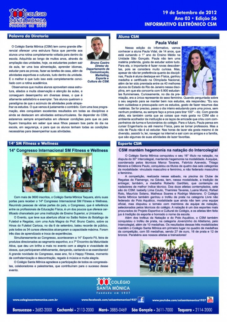 Boletim Eletrônico – Ano 3 | Edição 056 – 19/09/2012