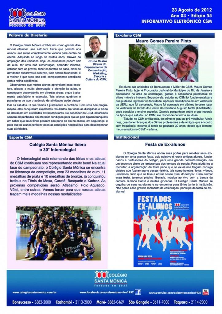 Boletim Eletrônico – Ano 3 | Edição 055 – 23/08/2012