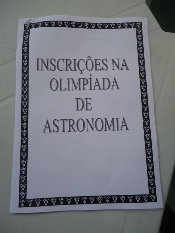 OLIMPÍADA  BRASILEIRA DE ASTRONOMIA E ASTRONÁUTICA – BONSUCESSO