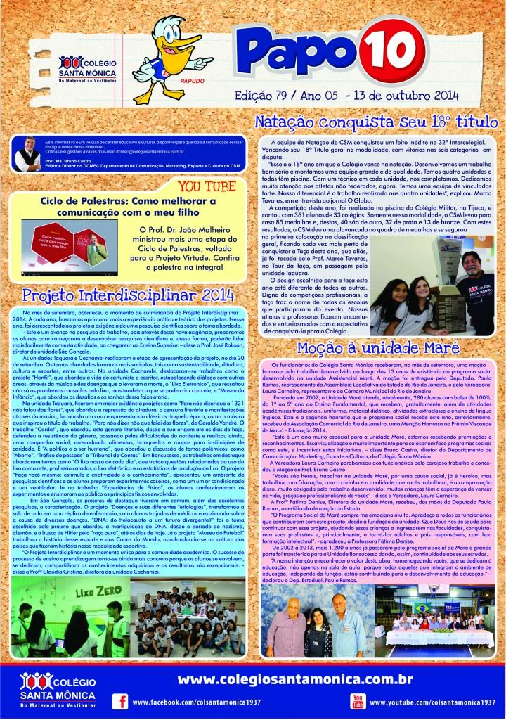 Boletim Eletrônico – Ano 5 | Edição 079 – 13/10/2014