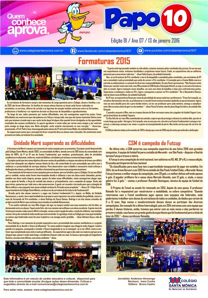Boletim Eletrônico – Ano 7 | Edição 091 – 13/01/2016