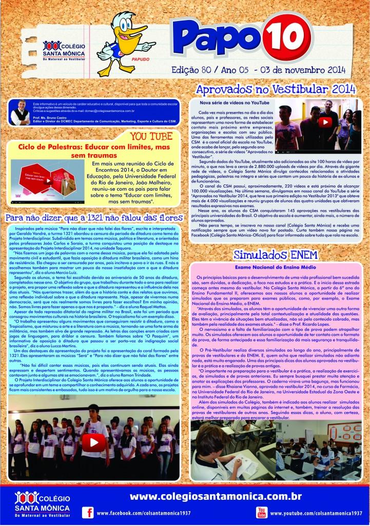 Boletim Eletrônico – Ano 5 | Edição 080 – 03/11/2014