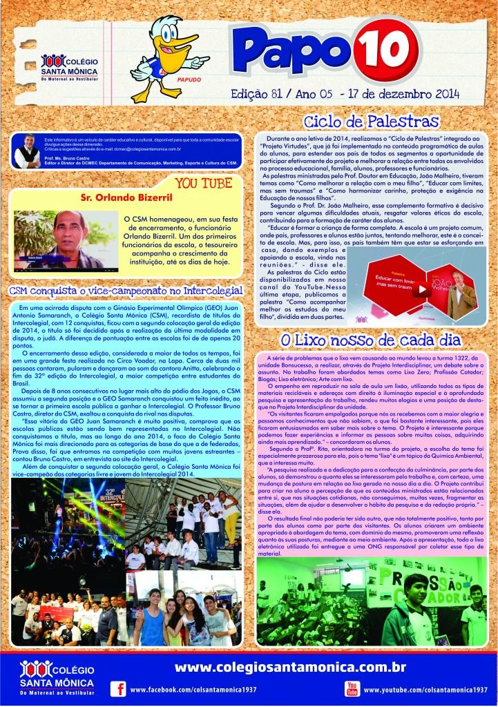 Boletim Eletrônico – Ano 5 | Edição 081 – 17/12/2014