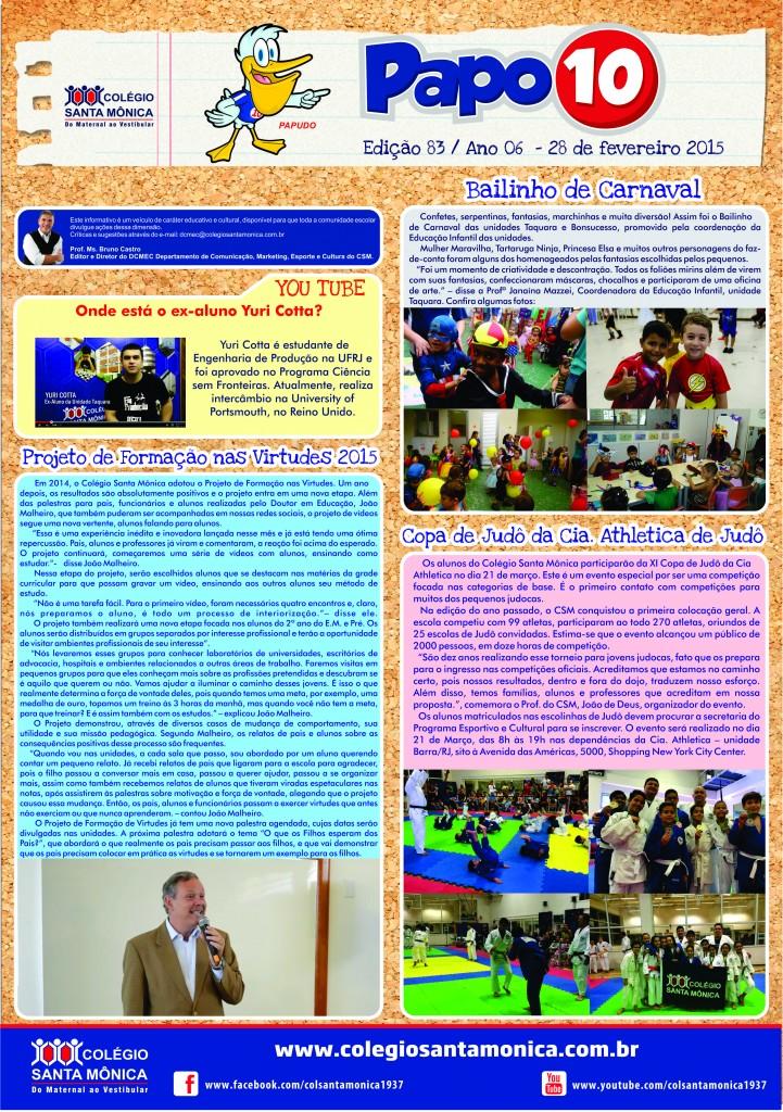 Boletim Eletrônico – Ano 6 | Edição 083 – 28/02/2015