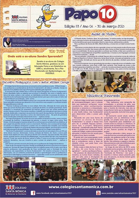 Boletim Eletrônico – Ano 6 | Edição 083 – 30/03/2015