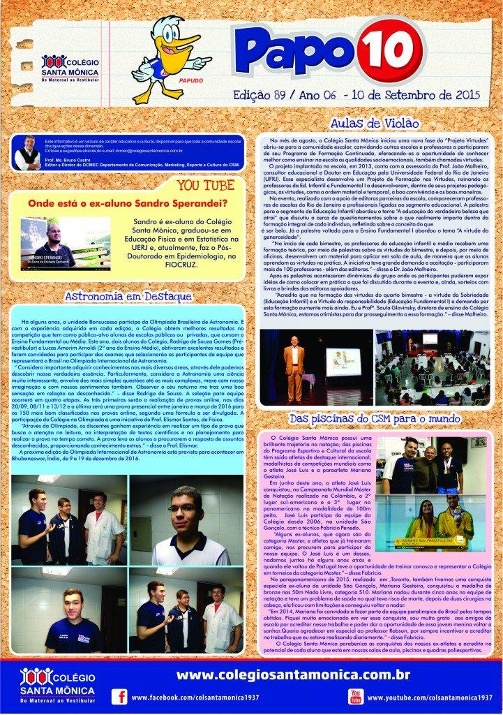 Boletim Eletrônico – Ano 06 | Edição 89 – 10/09/2015