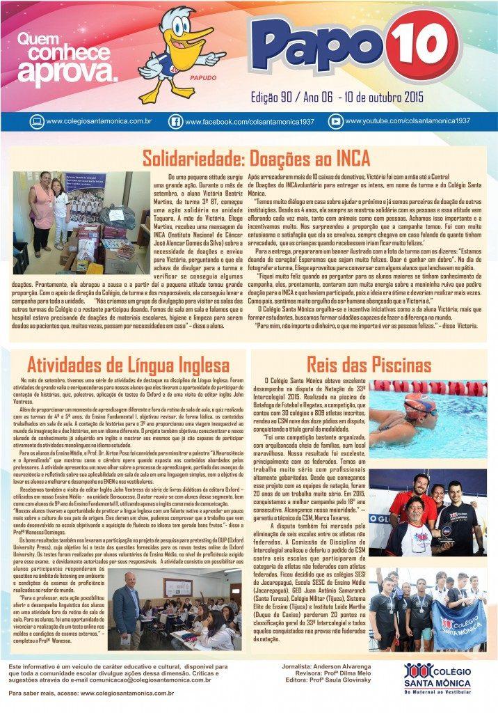 Boletim Eletrônico – Ano 06 | Edição 90 – 10/10/2015