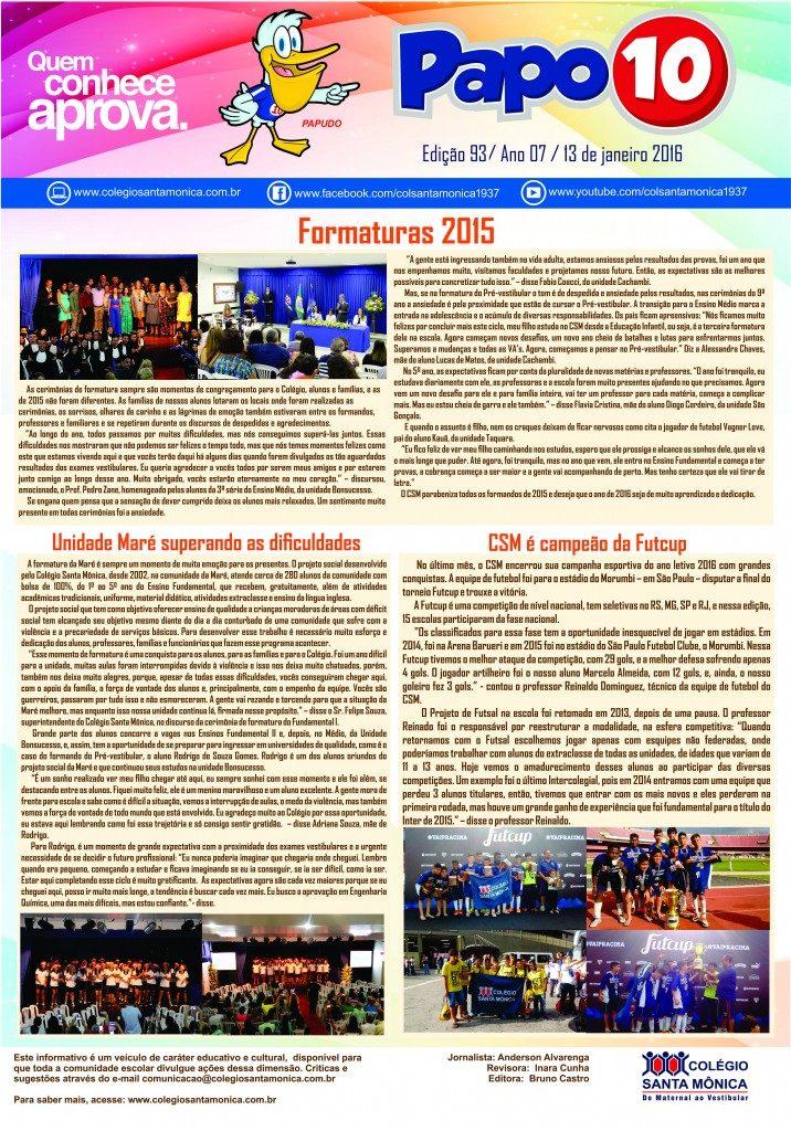 Boletim Eletrônico – Ano 07 | Edição 93 – 13/01/2016