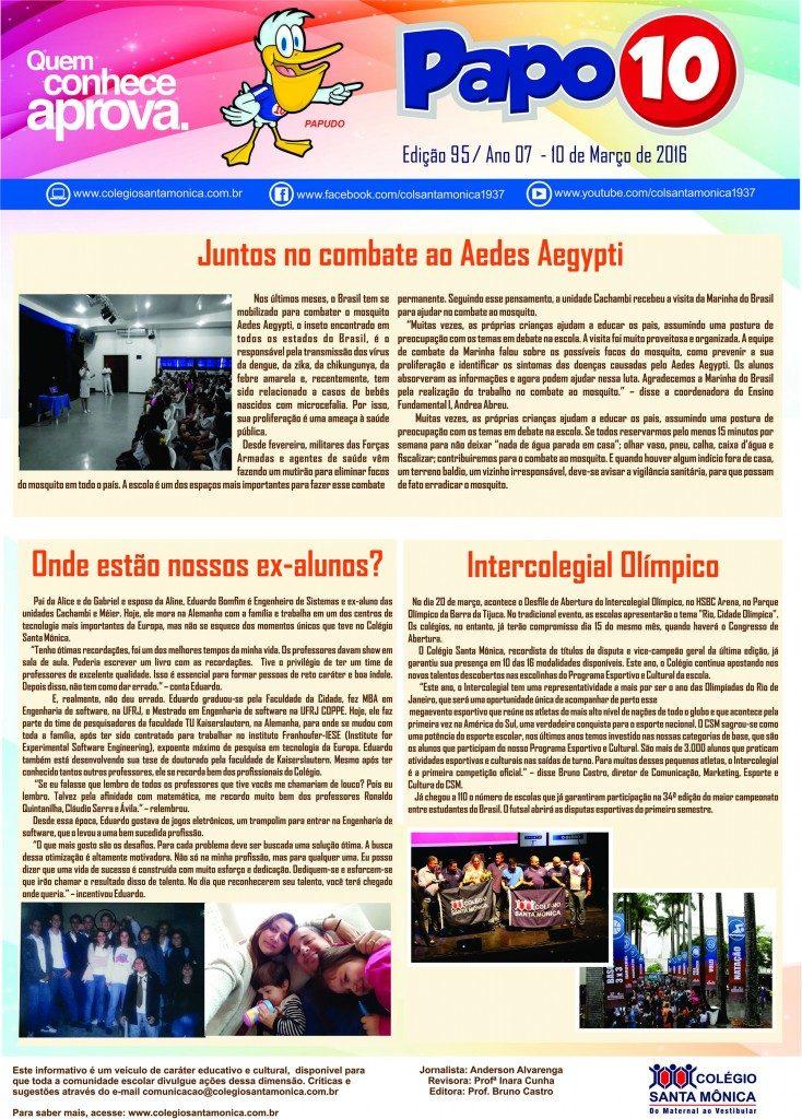 Boletim Eletrônico – Ano 07 | Edição 94 – 16/02/2016