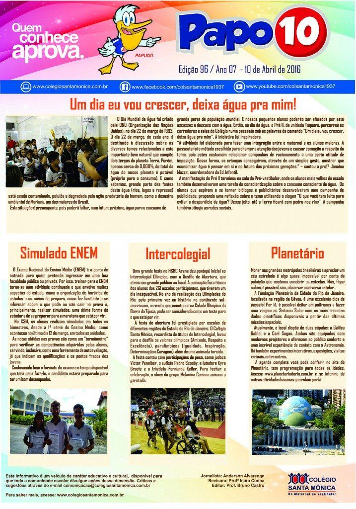 Boletim Eletrônico – Ano 07 | Edição 96 – 10/04/2016