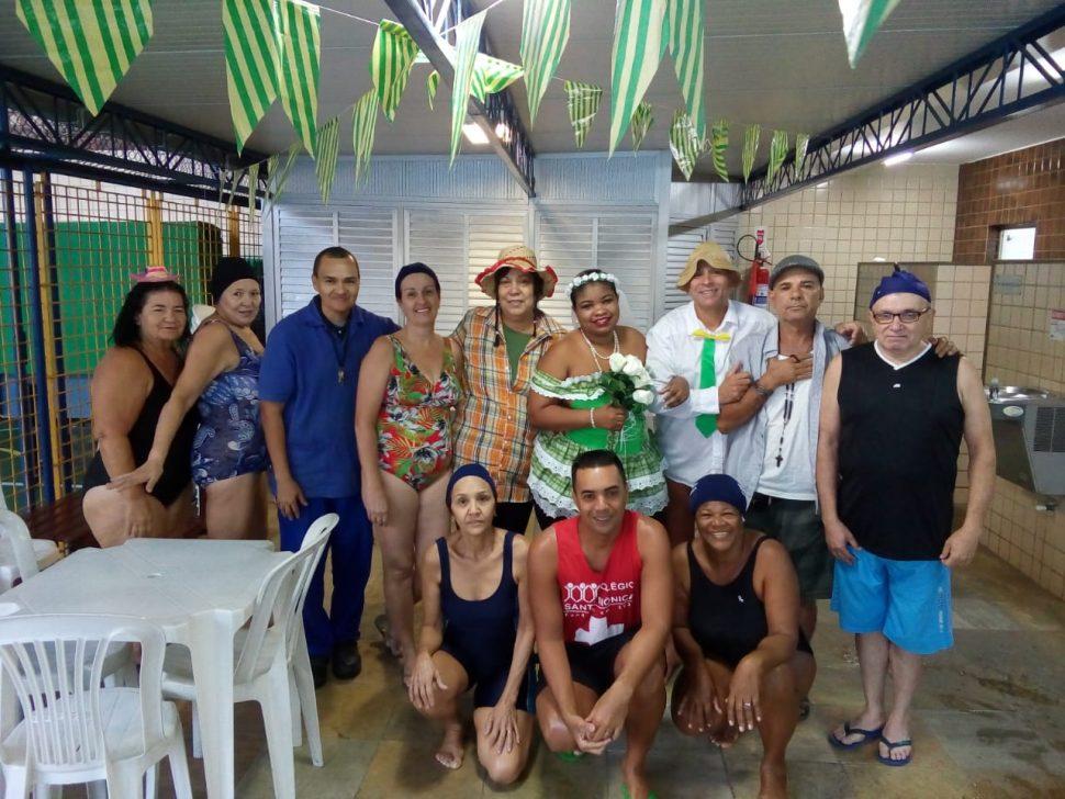 COLÉGIO SANTA MÔNICA – FESTA JUNINA DA HIDROGINÁSTICA (M)– EXTRACLASSE– BONSUCESSO