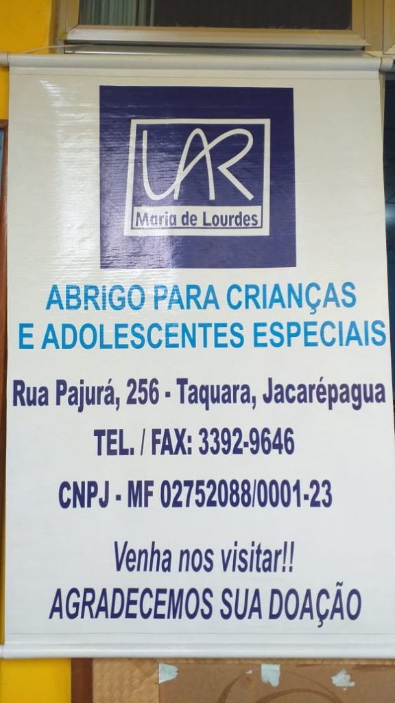 ENTREGA DAS DOAÇÕES (ABRIGO PARA CRIANÇAS E ADOLESCENTES ESPECIAIS)